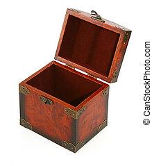 open antique wooden trunk #2