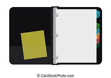 Open archive folder, vector illustration