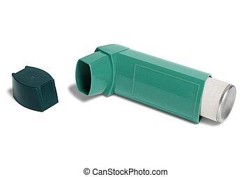 Open asthma inhaler