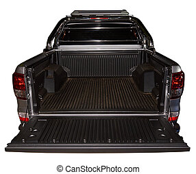 Open back of pick up truck - Open empty back of pick up...