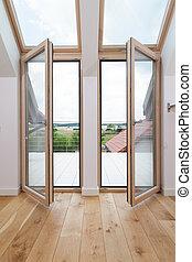 Open balcony windows