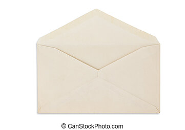 Open balnk white envelope isolated - Open balnk white...