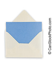 Open balnk white envelope. - Open blank white envelope with...