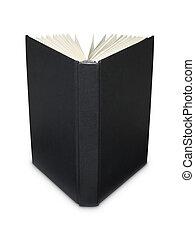 Open blank black book