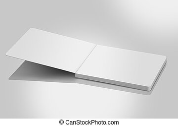 Open Blank Book / Brochure For Mockups - Open Blank Book / ...