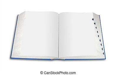Open blank book, isolated