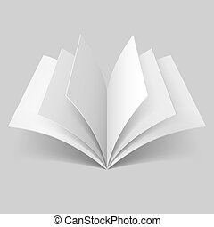 Open blank book - Open book with blank pages isolated on...
