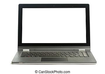 Open blank laptop