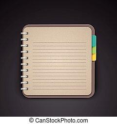 open blank lined notebook