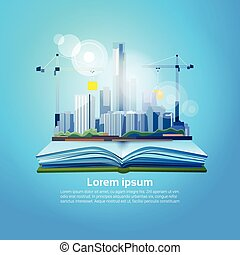 Open Book Big City Geography Read School Education Knowledge Concept