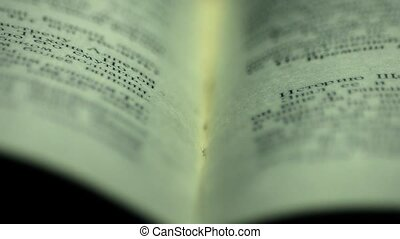 Open book. Book with macro. Fly over the book. 21 - Open...