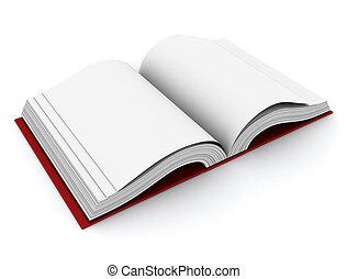 Open Book - 3D Illustration of an Open Book