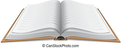 open book hardcover isolated