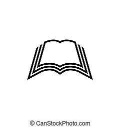Open Book Flat Vector Icon