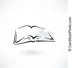 open book grunge icon