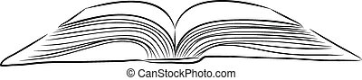 open book hand draw