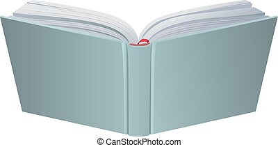 Open book hardcover 3d realistic vector