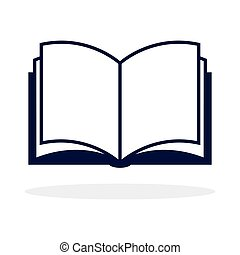 open book icon, isolated on white background, vector ...