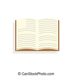 Open book. Icon on isolated background