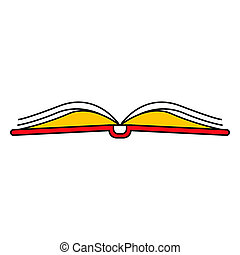 Open book icon, outline style