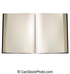 Open book. illustration in vector format.