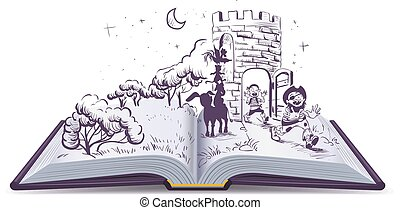 Open book illustration