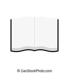 Open book. Illustration on white