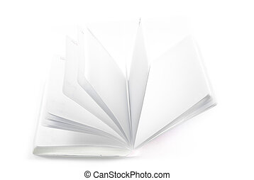 Open book isolated on white.