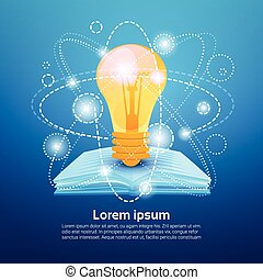 Open Book Light Bulb School Education Knowledge Concept