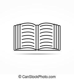 Open Book Line Icon