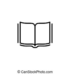 Open book line icon. vector illustration black on white background