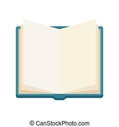 open book, notebook, vector icone