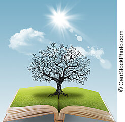 open book of the big tree fantacy