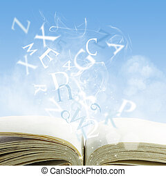 open book on a cloud