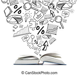 open book on the table - education and reading concept - ...