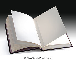 Open book - Open blank book isolated with a clipping path. ...