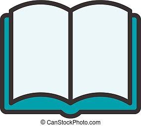 Open Book Outline Icon