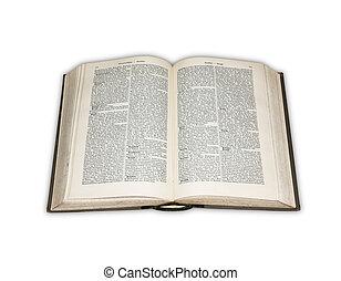 Open book over white