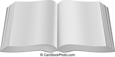 Open book paperback limp binding. Illustration in vector format