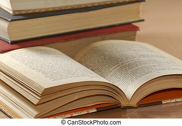Open Book - Photo of Various Textbooks - Education Related -...