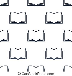 Open book seamless pattern
