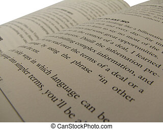 Open Book - opened book from side