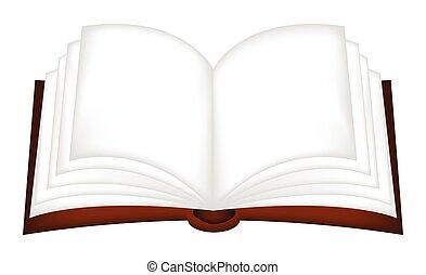 Open book vector clipart, symbol,