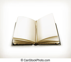 Open book, vector