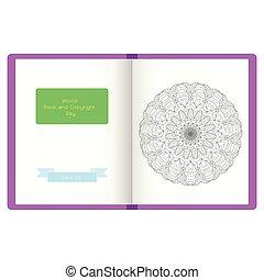 Open book vector illustration.