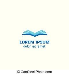 Open book. Vector logo template