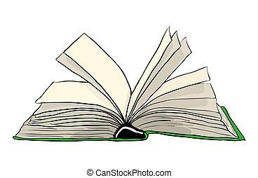 open book cartoon vector symbol icon design beautiful eps vector rh canstockphoto com cartoon open book images open backpack cartoon