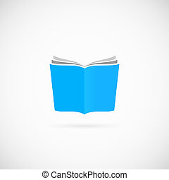 Open Book Vector Symbol Icon or Logo Template