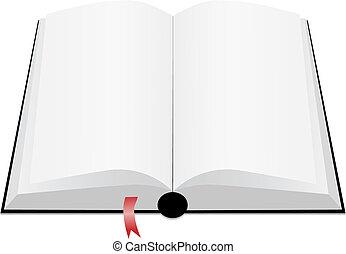 Open book - White book open