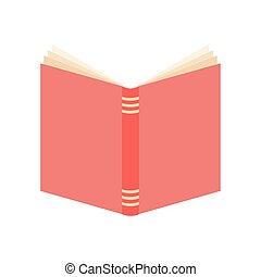 open book with a pink cover